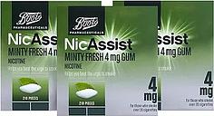 Boots NicAssist Minty Fresh Gum 4mg - 3 x 210 Pieces Bundle