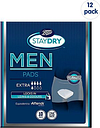 Boots Staydry Men Extra Pads - 120 Pads (12 Pack Bundle)