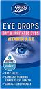 Boots Eye Drops Dry & Irritated Eyes Vitamin A & E - 15ml