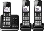 PANASONIC KX-TGD623EB Cordless Phone - Triple Handsets