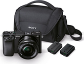 SONY a6000 Mirrorless Camera with 16-50 mm f/3.5-5.6 Lens & Bag - Black, Black