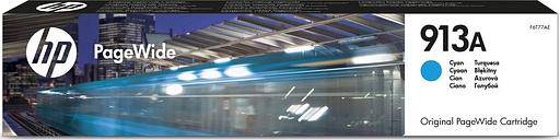 HP Original PageWide 913A Cyan Ink Cartridge, Cyan