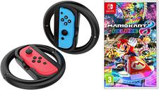NINTENDO SWITCH Mario Kart 8 Deluxe & VS4794 Joy-Con Racing Wheels Bundle, Red
