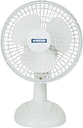 "STATUS 6"" Desk Fan - White, White"