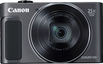 Canon PowerShot SX620 HS Superzoom Compact Camera - Black, Black