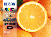 EPSON No. 33 Oranges XL 5-Colour Ink Cartridges - Multipack, Black