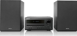 DENON DT-1 Bluetooth Traditional Hi-Fi System - Black, Black