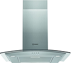 HOTPOINT IHGC 6.5 LM X Chimney Cooker Hood - Silver, Silver