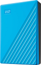 WD My Passport Portable Hard Drive - 4 TB, Blue, Blue