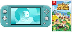 NINTENDO Switch Lite Turquoise & Animal Crossing: New Horizons Bundle, Turquoise