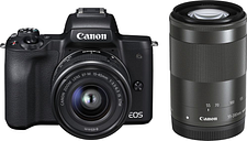 Canon EOS M50 Mirrorless Camera with EF-M 15-45 mm f/3.5-5.6 IS STM & 55-200 mm f/4.5-6.3 IS STM Lens