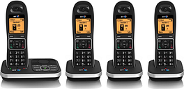 BT 7610 Cordless Phone with Answering Machine - Quad Handsets