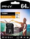 PNY Turbo Performance Class 10 microSD Memory Card - 64 GB