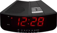 LOGIK LCRAN12 FM/AM Clock Radio - Black, Black