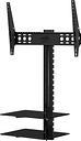 AVF ESL822B TV Bracket with AV Shelving - Black, Black