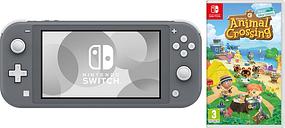 NINTENDO Switch Lite Grey & Animal Crossing: New Horizons Bundle, Grey