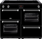 BELLING Kensington 100Ei Electric Induction Range Cooker - Black & Chrome, Black
