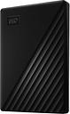 WD My Passport Portable Hard Drive - 1 TB, Black, Black