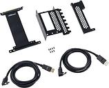 CABLEMOD Vertical PCIe Bracket - Black, Black