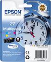 EPSON Alarm Clock 27 Cyan, Magenta & Yellow Ink Cartridges - Multipack, Cyan