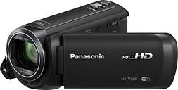 PANASONIC HC-V380EB-K Traditional Camcorder - Black, Black