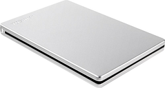 TOSHIBA Canvio Slim External Hard Drive - 2 TB, Silver, Silver