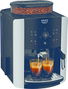 KRUPS Arabica Manual Espresso EA811840 Bean to Cup Coffee Machine - Black & Silver, Black