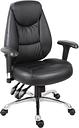 TEKNIK Portland Leather-look Operator Chair - Black, Black