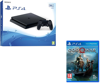 PlayStation 4 Slim & God Of War Bundle, Black