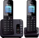 PANASONIC KX-TG8182EB Cordless Phone with Answering Machine - Twin Handsets