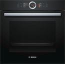 BOSCH Serie 8 HBG6764B6B Electric Smart Oven - Black, Black