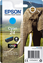 EPSON 24 Elephant Cyan Ink Cartridge, Cyan
