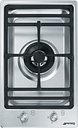 SMEG PGF31G-1 Domino Gas Hob - Stainless Steel, Stainless Steel