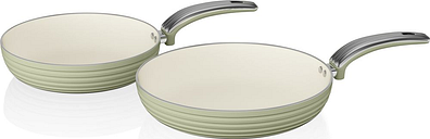 SWAN Retro 2-piece Non-stick Frying Pan Set - Green, Green