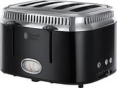 RUSSELL HOBBS Retro 21691 4-Slice Toaster - Black, Black