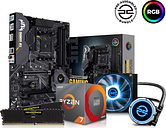 PC SPECIALIST AMD Ryzen 7 Processor, TUF Gaming Motherboard, 16 GB RAM & FrostFlow Liquid Cooler Components Bundle