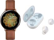 SAMSUNG Galaxy Watch Active2 4G & Galaxy Buds Bundle - Gold, Gold