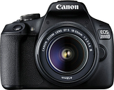 CANON EOS 2000D DSLR Camera with EF-S 18-55 mm f/3.5-5.6 III Lens