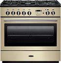 Rangemaster Professional+ FX 90 Dual Fuel Range Cooker - Cream & Chrome, Cream