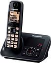 PANASONIC KX-TG6621EB Cordless Phone with Answering Machine, Black