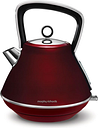MORPHY RICHARDS Evoke One Traditional Kettle - Red, Red