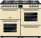 BELLING Kensington 100DFT Dual Fuel Range Cooker - Cream & Chrome, Cream