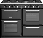 STOVES Richmond S1100DF 110 cm Dual Fuel Range Cooker - Black, Black