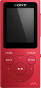 SONY Walkman NW-E394R 8 GB MP3 Player with FM Radio - Red, Red