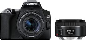 Canon EOS 250D DSLR Camera with EF-S 18-55 mm f/3.5-5.6 III & EF 50 mm f/1.8 STM Lens, Black