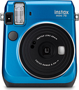 FUJIFILM Instax Mini 70 Instant Camera - 10 Shots Included, Blue, Blue