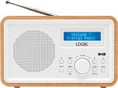 LOGIK LHDR15 Portable DAB/FM Radio - Light Wood & White, White