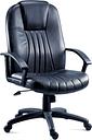 TEKNIK City 8099 Leather Faced Reclining Executive Chair - Black, Black