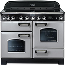 RANGEMASTER Classic Deluxe 110 Electric Induction Range Cooker - Royal Pearl & Chrome