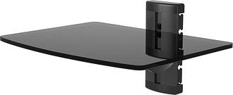 TTAP TTD-1 Single Glass Wall Shelf - Black, Black
